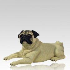 Fawn Pug Dog Cremation Urn