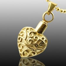 Filigree Heart Cremation Jewelry II
