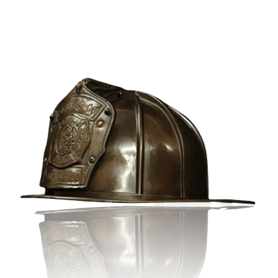 Firefighter Helmet Cremation Urn