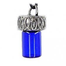 Fish Blue Cremation Necklace Pendant