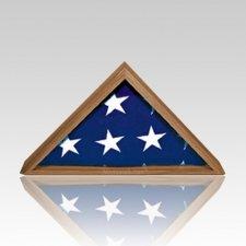 Tribute Walnut Flag Display Case