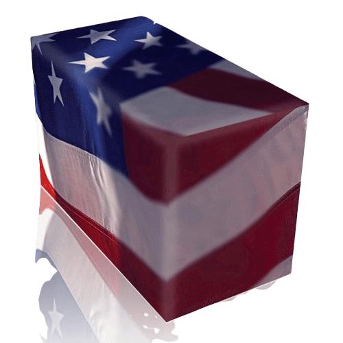 Flag Cremation Urn