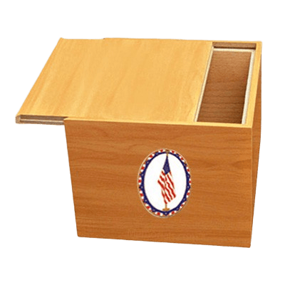 Norwegian US Flag Cremation Urn