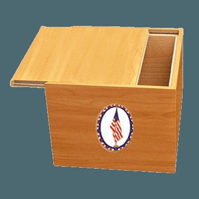 Norwegian US Flag Cremation Urn