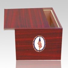 Danish US Flag Cremation Urn