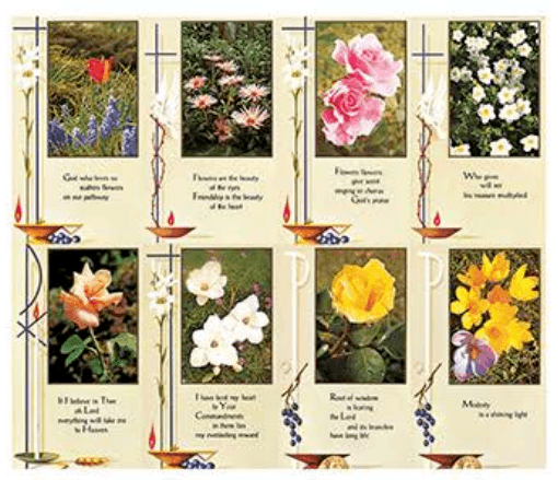 Flower Prayer Cards