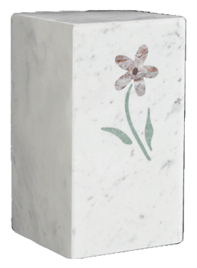 Flower Carrara Cremation Urn