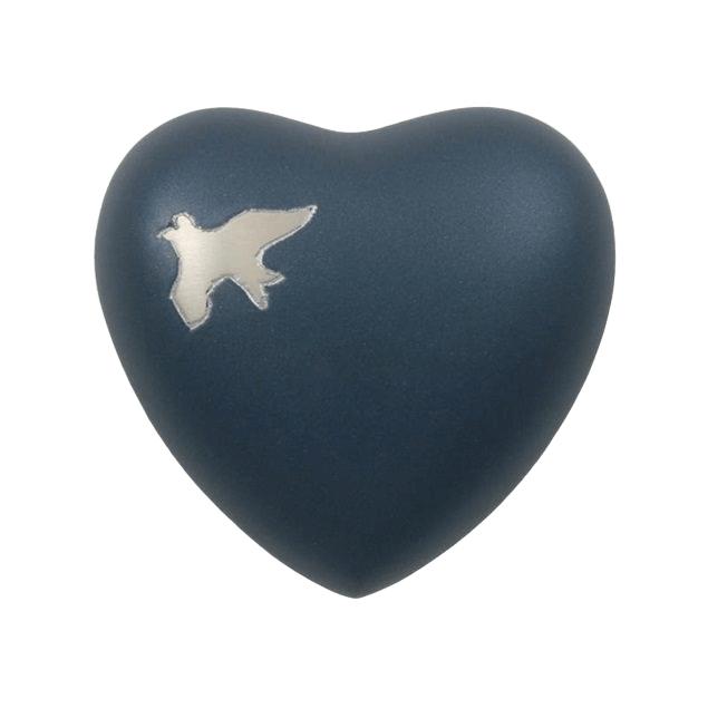 Flying Birds Heart Keepsake Urn