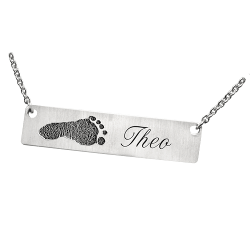 Footprint 14K White Gold Pendant Keepsake