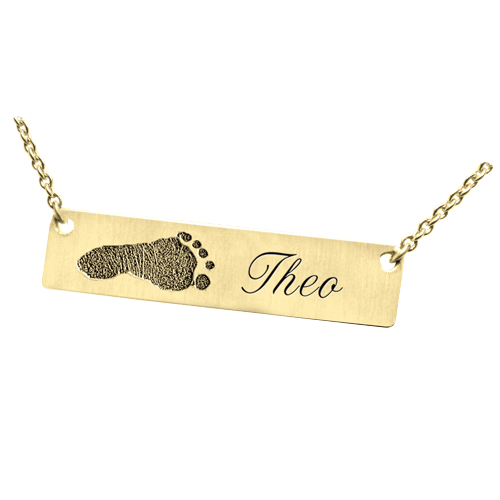 Footprint 14K Gold Pendant Keepsake
