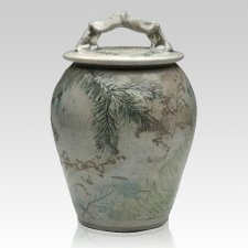 Forest Crackle Companion Cremation Urn