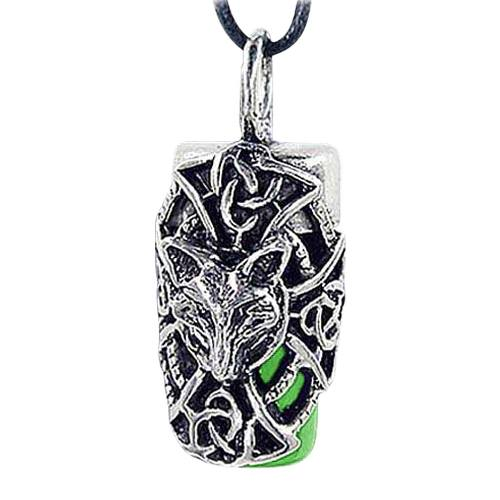 Fox Green Cremation Necklace