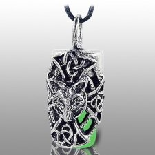 Dog Green Cremation Necklace