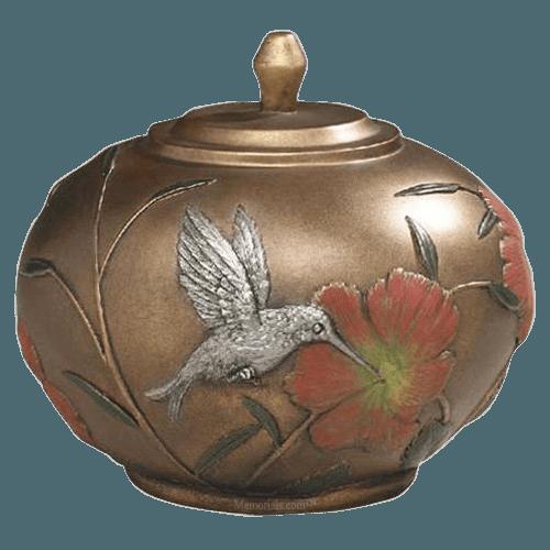 Hummingbird Blossom Cremation Urn