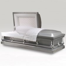 Freeport Silver Metal Casket