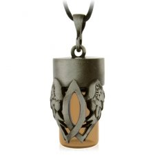 Christian Brown Cremation Urn Necklace