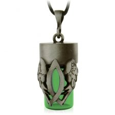 Christian Green Cremation Urn Necklace