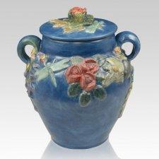 Garden of Eden Ceramic Companion Cremation Urn
