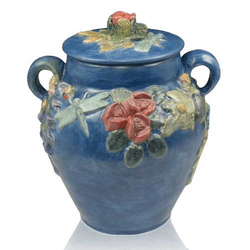 Garden of Eden Ceramic Companion Cremation Urn