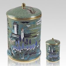 Garden Cloisonne Cremation Urns