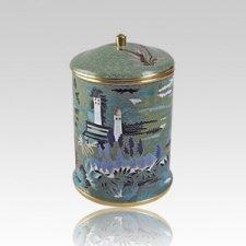 Garden Keepsake Cloisonne Cremation Urn