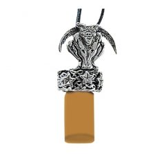 Gargoyle Brown Cremation Ash Necklace