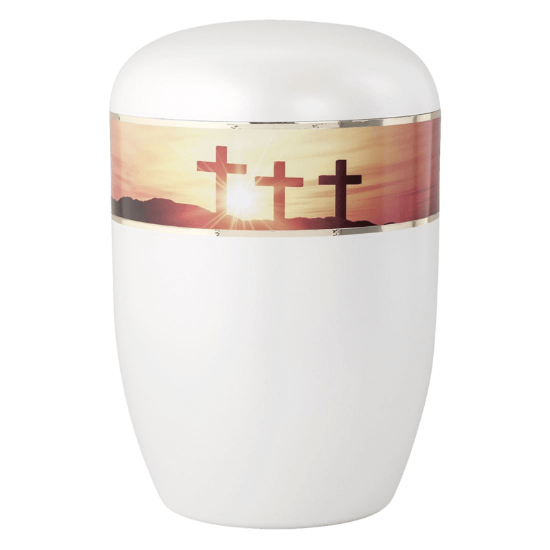 Glistening Cross Biodegradable Urn