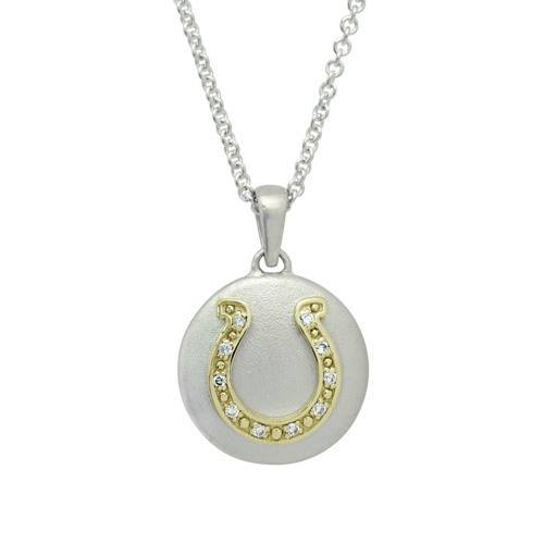 Diamond Horseshoe Gold Cremation Pendant