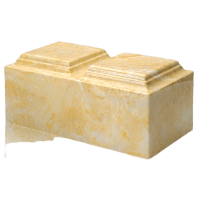 Gold Marble Companion Cremation Urn