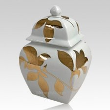 Gold Leaves Pet Cremation Urn