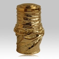 Modern Gold Funeral Urn