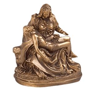 Gold Pieta Religious Cremation Urns