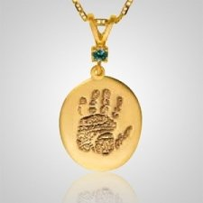Regular Casing Hand Print 14k Yellow Gold Keepsakes