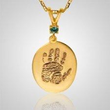 Regular Casing Hand Print 14k Yellow Gold Keepsakes
