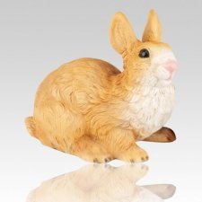 Gold Rabbit Cremation Urn