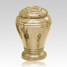 Golden Sunset Marble Cremation Urn III