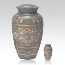 Golden Green Waters Cremation Urns