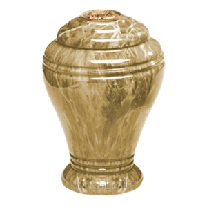 Golden Sunset Marble Cremation Urns
