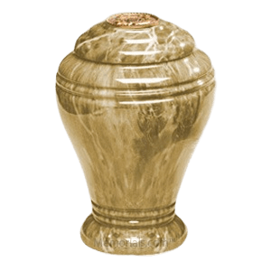 Golden Sunset Marble Cremation Urn IV
