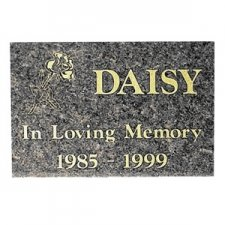 Black Granite Memorial Pet Grave Stone