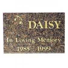Burgundy Granite Memorial Pet Grave Stone