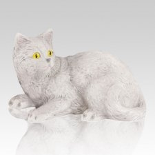 Gray Kitty Cremation Urn