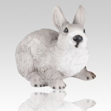 Gray Rabbit Cremation Urn