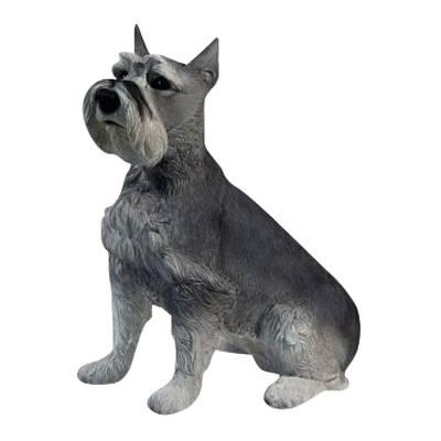Gray Schnauzer Dog Cremation Urn