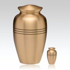 Grecian Bronze Cremation Urns