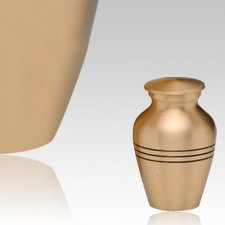 Grecian Bronze Keepsake Cremation Urn