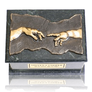Close to God Green & Bronze Cremation Urn