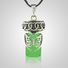 Butterfly Dream Green Cremation Pendant