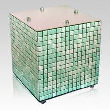 Green Mosaic Ceramic Urn