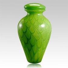 Green Wishing Star Glass Urns